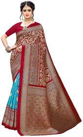 SVB Saree Rama  Red woven Art Silk Saree