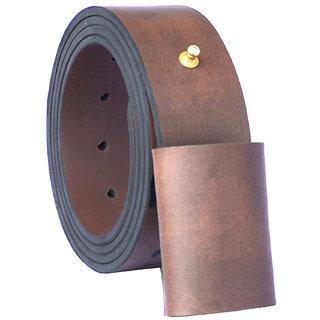 Sunshopping Men Brown Pin-Hole Buckle Leatherite Belt