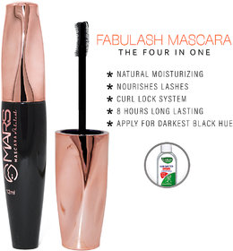 Mars 4 In 1 Fabulash Mascara, Black, 12ml (M01) With Lilium Hand Cleanser