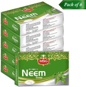 MSG Neem 75g Soap Pack of 6