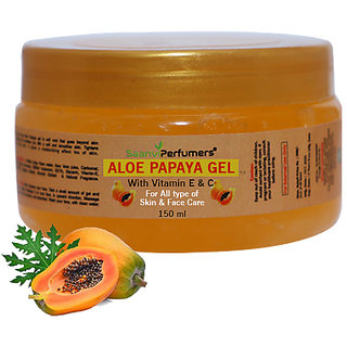 Saanvi Perfumers Papaya Gel With Vitamin E  C 150ML For All Types of Skin  Face Care