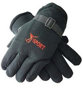 Unisex Winter Gloves for Men and Boys Motorcycle Riding Hand Gloves, Free size Color - Black