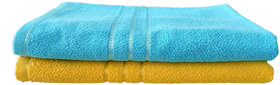 Luxurious 100%  Cotton Bath Towel Set of 2 (30x60) Inch, Multicolor , 450 Gsm