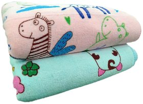 Luxurious 100%  Baby bath towel Set of 2 (19x38) Inch, Polymaide