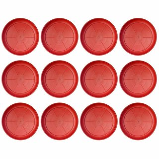 OSM ENTERPRISES UV Treated Plastic-Tray Plate Saucer Bottom Tray (12 Numbers-Tray 8-inches)