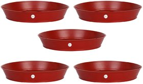 OSM ENTERPRISES Planter Gamla Bottom Plate or Tray 6 inches Diameter for Planters (Pack of 5pc)