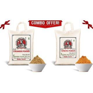 Pure Turmeric (500g) - Coriander Powder (1kg) Combo (Haldi - Dhaniya) Total 1.5Kg