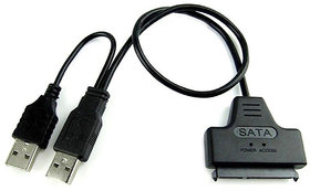 WONDER CHOICE USB 2.0 to SATA Adapter Cable SATA to USB Converter for Only 2.5 inch SATA Hard Drive Disk HDD and SSD