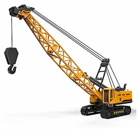 Crane Engineering Vehicle Die-cast Car Model Toy with Cable,1 55 Scale Aerial Cranes Crawling Truck for Kids