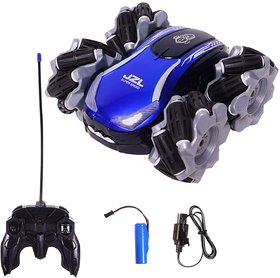 Rechargeable High Speed Drift Stunt Car RC Off Road Crawler Racing Vehicle Toy with LED Lights  Universal Wheel for Kid