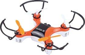 Nano Quadcopter with 360 Degree Axis Gyro Stabilization, Orange (10x10x3cm)