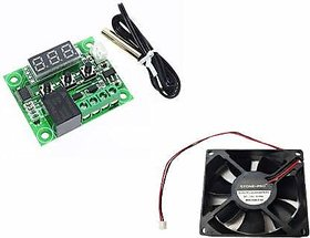Stookin 3inch Fan With W1209 12V DC Digital Temperature Controller Board for Incubator Electronic Components Electronic