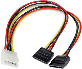 WONDER CHOICE 4 Pin IDE Male Molex to Dual SATA Y Splitter Power Cable for SATA HDD, CD/DVD Writer