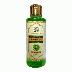 Khadi Pure Herbs Aloevera Face Wash - 210ml