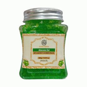 Khadi Pure Herbs Aloevera Gel with Liquorice  Cucumber Extracts (Green) - 200g
