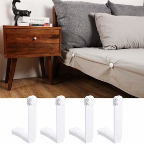 House of Quirk Easy Install Bed Sheet Fixer Blankets Quilt No Elastic Straps or Clips Holders Anti-Skid Clip