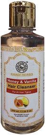 Khadi Pure Herbs Honey  Vanilla Hair Cleanser Shampoo 210ml