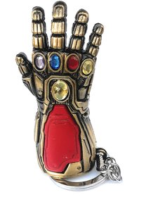 Marvel Avengers Latex 4 Ironman Infinity Gauntlet Cosplay Arm Thanos Gloves Arms Superhero Weapon (Golden)