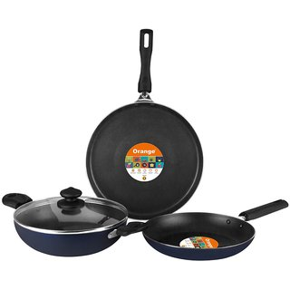 Orange Induction Bottom Cookware Set - 4pcs