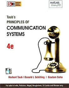 Principles Of Communication Systems By Herbert Taub  Donald L Schilling
