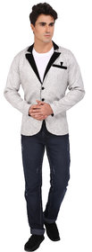 Topg Fashion White Jute Blazer For Men
