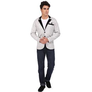Topg Fashion White Jute Blazer For Men