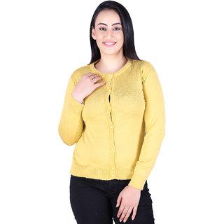 Ogarti woollen full sleeve solid Women's  Cardigan