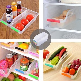 Fridge Storage Basket Shelf Organizer Rack Space Saver Food Storage Refrigerator Drawer for Home and Kitchen