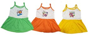 Just Born Girl Baby Forcks, Little Baby Cute Forks (Multi color, 0-4 months, Pack of 3)