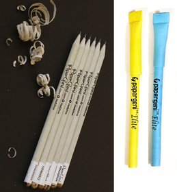 Papergeni Eco-Friendly and Recycled 2B Paper Pencil with Seeds Set with  Elite Paper Pen Set of 40 pcs (Pack of 2)