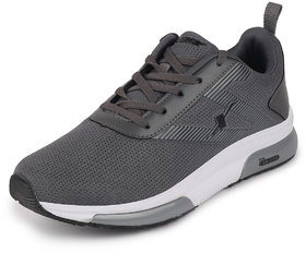 Sparx Men's Grey/Black Sports Lace Up Running Shoes