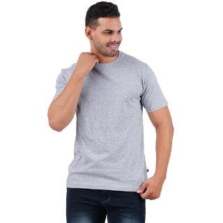 Stoovs Melange Grey Men's Half Sleeve T-shirt