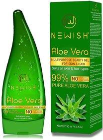 Newish Pure Aloe Vera Gel for Face Glow, Hair Growth  Skin Moisturizer for Women  Men