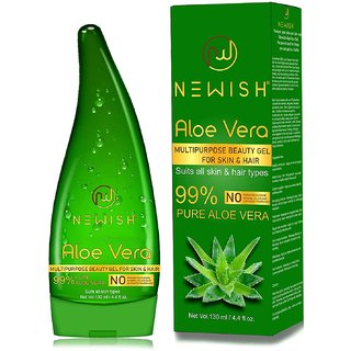 Newish Pure Aloe Vera Gel for Face Glow, Hair Growth  Skin Moisturizer for Women  Men