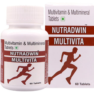 NUTRADWIN Multivitamin  Multimineral Antioxidant  Natural Extract Ginseng, Ginkgo Biloba Extract- 60 Tablets