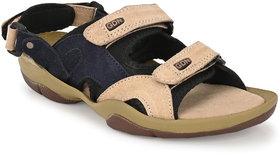 Lee Peeter Men's Multy Beige Valcro Sandal