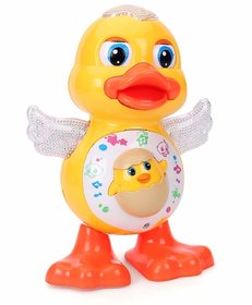 VARNA Dancing Duck Toy with Real Dance Action and Music Flashing Lights, Multi-Color