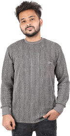 Gophar winter wear round neck dark grey Thermal for men's