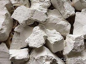 Kaolin Edible Clay Chunks (lump) Natural for Eating (Food), 1 lb (450 g)