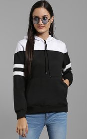 Raabta RWS-WNTR004 Black Sweatshirt With White Yoke And Sleeve Strips