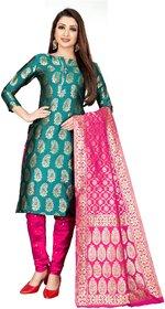 Anand Jacquard Silk Woven Salwar Suit Dupatta Dress Material for Women( JDM68 )