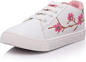 Onbeat Casual White Sneakers For Girls