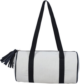Diwaah White Casual Duffel bag