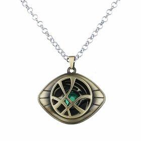 Avengers Doctor Strange Eye of Agamotto Time Stone Pendant Locket with Chain