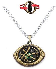 Avengers Doctor Strange Rotating Eye of Agamotto Infinity Time Stone Pendant Locket with Chain