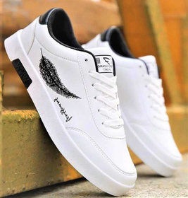 Lejano Men White Lace-up Sneakers