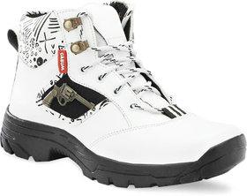 Lejano Men's Stylish Casual White  Sneaker Shoes