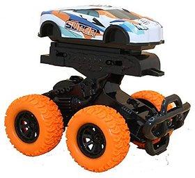 Varna Unbreakable Diecast Metal Mini Monster Car Inertial Drive Mechanism Rock Climbing Vehicle Pack Of 2