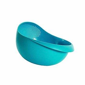 Vastate Kitchen Dinnerware Plastic Rice Bowl Strainer (Multicolour)