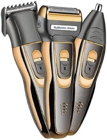 Sanjana Collections Professional Shaver and 3 in 1 Beard, Nose and Ear Waterproof Trimmer Set for Men (Black)
